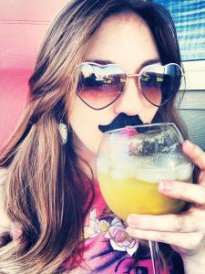 mustache selfie